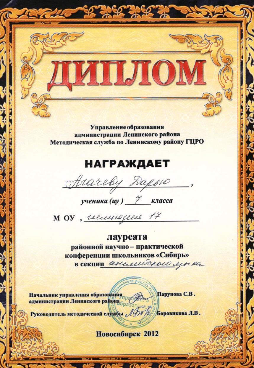 Диплом - Агачева Дарья